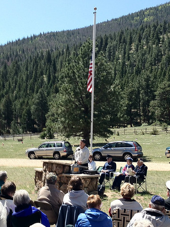 Veterans, friends and family gather at the Estes Valley Memorial Gardens for the annual Memorial Day service. While a day of celebration and picnics, let us never forget those who have fallen.