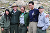 Walt Hester | Trail-Gazette<br /> National Park Service Director, Jon Jarvis, in the famous flat hat of the national park, pauses for a photo with student-volunteers from the Eagle Rock School on Friday. Director Jarvice was visiting Rocky Mountain National Park as part of the BioBlitz.