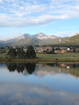 A mix of sun and clouds greets early commuters in Estes Park on Wednesday. The forecast is for more clouds and possible storms later in the day and a high around 83.