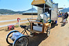 Walt Hester | Trail-Gazette<br /> The Vike Caffe showed up at the Stanley Fairgrounds for the weekend's Biodiversity Festival. While the cart can be pedaled around, this one was driven from Boulder to Saturday's festivities.