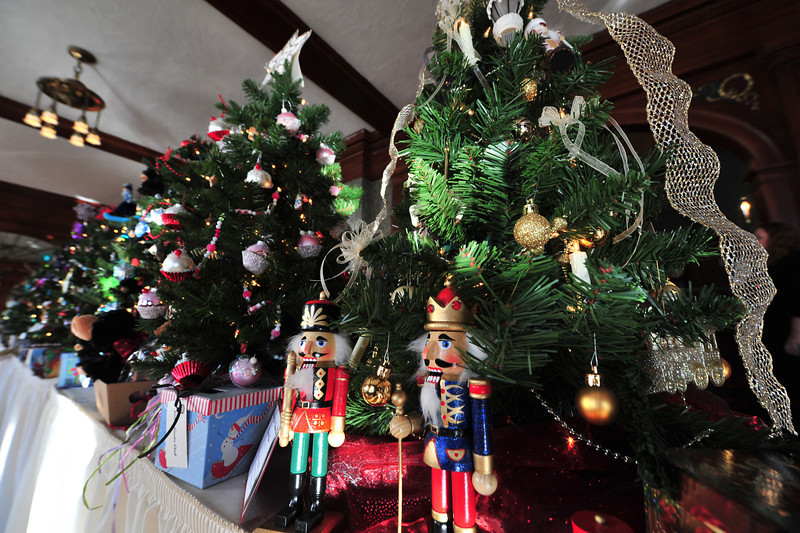 Nutcrackers adorn one of many miniature Christmas trees on display at the Stanley Hotel on Tuesday. The Quota Club's Parade of Trees will be on display at the hotel through the end of November, then will move to the Good Samaritan Village through the end of the year.