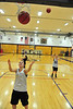 Ladycats shoot and rebound during drills on Monday. The Ladycats open up their home schedule at 3 p.m. on Saturday when the Buffaloes of Bishop Machebeuf come to town.