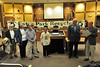Recycling advocates receive recognition from mayor Bill Pinkham at Tuesday's town board meeting. The mayor proclamed Thursday, November 16, as Recycling Day in Estes Park.