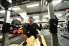 Wolfgar Pfaus-Novac, 16, squats in the weightroom at the Estes Park High School on Wednesday. Athletes who are not competing in the winter are taking time to train for the coming spring.