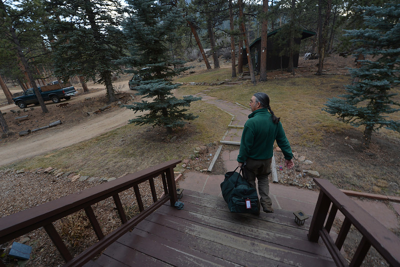 Justus Drake prepares, mentally and physically, to leave the land his family has owned since the 1920s. No new evacuation notices were issued Sunday night or Monday morning.