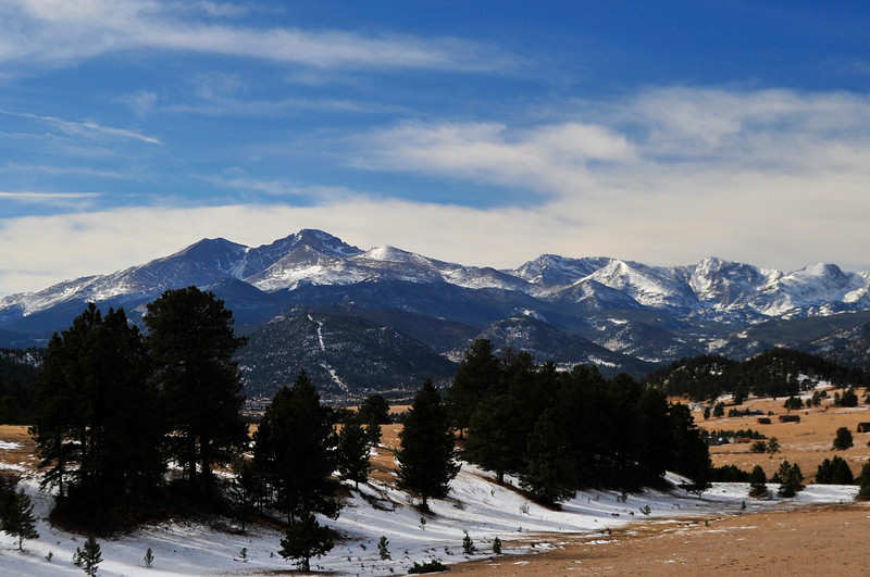 Walt Hester | Trail-Gazette<br /> Blue sky opens up over Estes Park as viewed from Storm Mountain on Friday Morning. Temperatures could touch the 50s on Saturday before cold weather returns on Sunday.