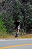 Walt Hester | Trail-Gazette<br /> A cyclist makes his way up Fall River Road on a warm fall day on Tuesday.