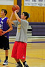 Walt Hester | Trail-Gazette<br /> Senior John Oja shoots during basketball practice on Tuesday. The boys begin competition on Friday, December 3, at Machebeuf.