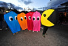 Walt Hester | Trail-Gazette<br /> Colorful ghosts follow PacMan down Elkhorn Avenue on Sunday.
