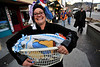 Walt Hester | Trail-Gazette<br /> Lonnie Erskine is a basket of laundry on Sunday during the annual Halloween celebration on Elkhorn Avenue.