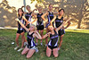 Photo by Walt Hester<br /> The girls of the Estes Park High School cross country team clown after team pictures on Tuesday. The girls are strong but a little muddy after Tuesday's practice.