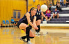 Photo by Walt Hester<br /> Estes Park's Ali Scheil gets under a his during Tuesday's match against Mead The Ladycats pulled out a 3-2 win in the match.