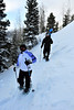 Walt Hester | Trail-Gazette<br /> A line of snowshoers descend the trail between Dream and Bear lakes. While very cold, snow drew pleanty of winter outdoor enthusiasts this weekend.