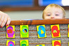 Walt Hester | Trail-Gazette<br /> EthanLemke, 3, plays Peek-a-Boo with visitors at Mountain Top Preschool on Tuesday.