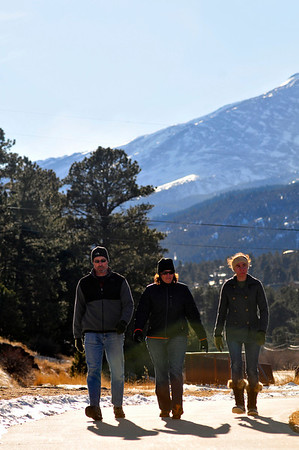 Walt Hester | Trail-Gazette<br /> Doug, Amber and Morgan Treat enjoy a little sunshine along the Fish Creek Trail on Tuesday. While 40-degree temperatures are expected Friday, snow could reappear by Sunday.