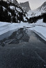 Walt Hester | Trail-Gazette<br /> Air bubbles, cracks ad reflections adorn the ice on Dream Lake on Sunday. The nearly-costent wind scours the lake and freezes the lake so quickly that the bubbles get caught in the ice.
