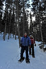 Walt Hester | Trail-Gazette<br /> Father-daughter duo Neil Grigg of Fort Collins and Mary Zenzen of Windsor snowshoe down the winter trail between Nymph and Bear lakes on Sunday. With the influx of snow, winter trails are more than ready for winter recreation.