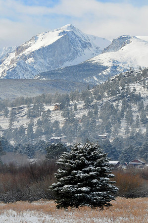 Walt Hester | Trail-Gazette<br /> New snow blankets Estes Park and Rocky Mountain National Park on Wednesday. More snow is expected Monday.