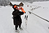 Walt Hester   Trail-Gazette<br /> Sled Dawg Carole Tuttle snaps a shot of the snowplay area at Hidden Valley on Tuesday. About a foot of snow has fallen on Hidden Valley from the storm of this past week.