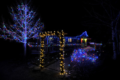 Walt Hester | Trail-Gazette Twinkling and color-shifting lights make this Fish Creek home unique.