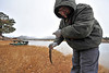 Walt Hester | Trail-Gazette<br /> Nikolay Serenkov hauls a trout out of Lake Estes on Wednesday. While temperatures were cold in Estes, it's all relative; Serenkov moved to Colorado from Russia one month ago.