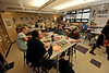 Walt Hester | Trail-Gazette<br /> Students at Estes Park Middle School enjoy some creative time in their art class on Wednesday.
