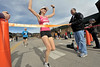 Walt Hester | Trail Gazette<br /> Laura Bruess of Boulder wins the women's 5K of the annual Frost Giant on Sunday. Times were generally fast, as temperatures were in the high 40's for most of the race.