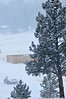 Walt Hester | Trail Gazette<br /> A morning commuter makes his way toward South St. Vrain Avenue on Tuesday morning. With only a few inches of new snow, Tuesday saw business as usual.