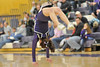 Walt Hester | Trail Gazette<br /> Estes Park High School Cheerleader Carmon Butler performs a series of back hand springs for the home crowd at last Friday's boys' basketball game.