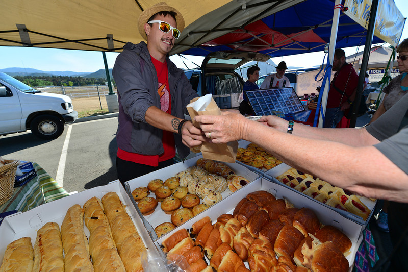 Pastries and bread are popular enough that the farmers' market is able to support several stands selling the goodies.