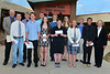 From the Noon Rotary of Estes Park, Collin Fogerty receives $1,000 for the Hagemeister Memorial Scholarship for Education, Peter Van Horn receives $1,500 for the Lynn Coffman Memorial Scholarship for Business, while Connor Bryant receives $1,000 for the same scholarship, Jon Youngbluth receives $2,000 for the Hagemeister Memorial Scholarship for scouts, Sierra Dennis received $2,000 over two years for the Carver Family Vocational Scholarship, Luke Holmes, as well as Ian McLain, far left, and Josh Hays, not pictured, each received $8,000 over four years for the Rotary Club's Academic Scholarship, Kim Barosh received $10,000 over four years for the Al Person Memorial Scholarship, Monica Ball receives the $1,000 George M. Prochaska Memorial Scholarship, Stephanie Soliday receives the $1,000 Sumey Musix Award and John Caleb Weber receives the $2,000 Hagemeister Memorial Scholarship for scouts.