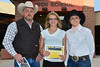 Karin Kingswood receives $4,000 every year for four years from Brett Rasmussen and Shannon Clark representing the Muriel L. MacGregor Charitable Trust Scholarship.
