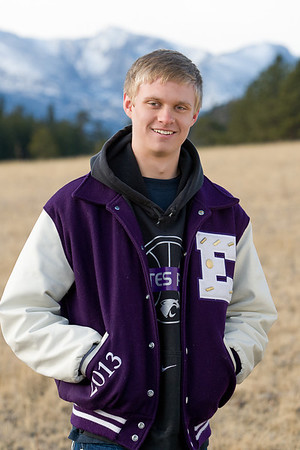 Taylor Marshall, high school senior, portrait in the Rocky Mountains, Estes Park, Colorado, USA