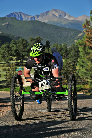Dan Marshall of Estes Park powers himself up the final rise of the Rocky Mountain Half Marathon on Saturday. Marshall was the first local resident to cross the line and was sixth overall in 1:30:13.
