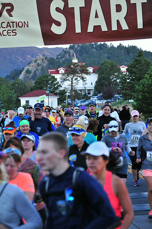 Hundreds of runners made the trip to Estes Park to begin the second Rocky Mountain Half Marathon on Saturday. The race is part of a series of races that visit the communities of western national parks such as Estes Park, Jackson, Wyo., and West Yellowstone, Mont.