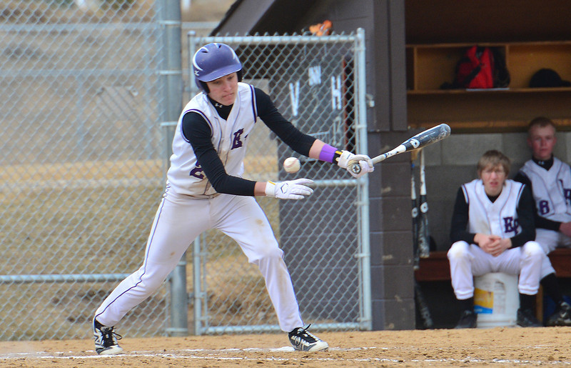 Adam Tulley swats a single during Saturday's win over Clear Creek. Tulley had two hits on the day that saw the 'Cats score 16 runs.