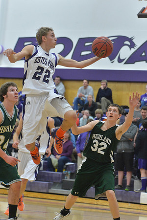 Andrew Cirone flys in for two against the Huskies on Friday. Andrew scored 20 points in the 90-55 mauling of Highland
