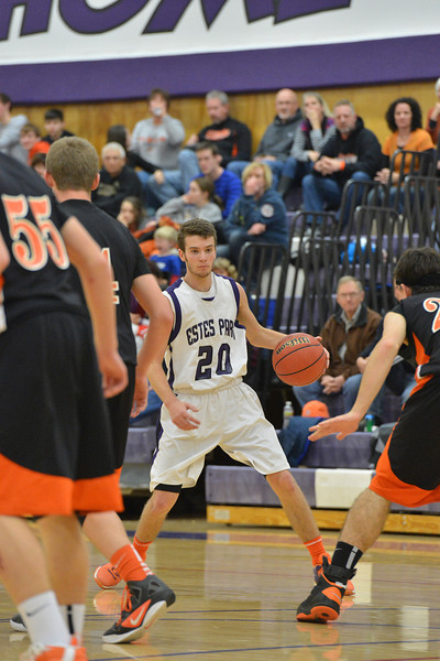 Josh Hays looks for an opening against Sterling on Saturday. The Bobcats came close but could not take down the Tigers, losing 49-43.
