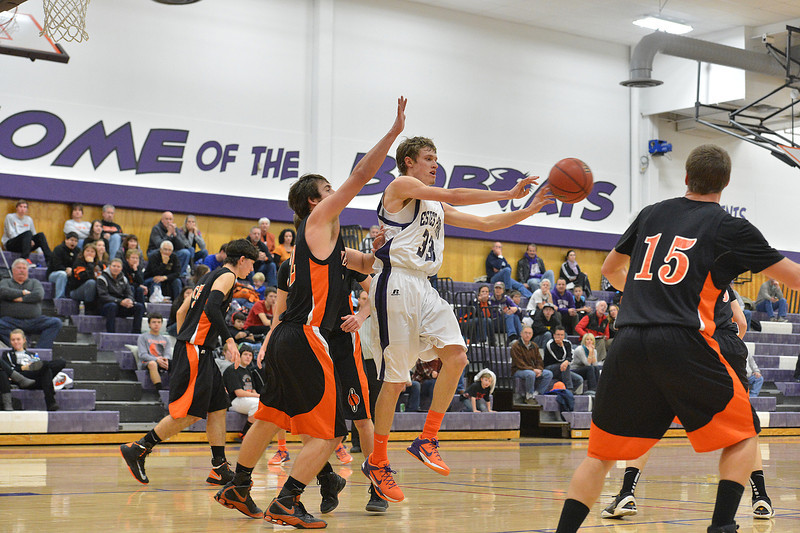Ben Cirone looks to pass against the Sterling Tigers on Satuday. The Bobcats came close but could not take down the Tigers, losing 49-43.
