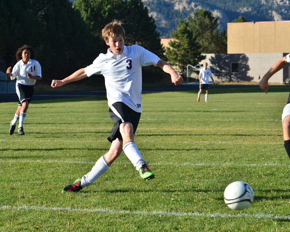 Zach Pierce scores his third goal in the second half against Valley on Thursday. The 'Cats have out-scored the Vikings 13-0 this season.