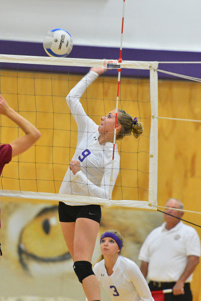 Amanda Dill goes for the kill earlier this season. The team will need her leadership to get back on track.