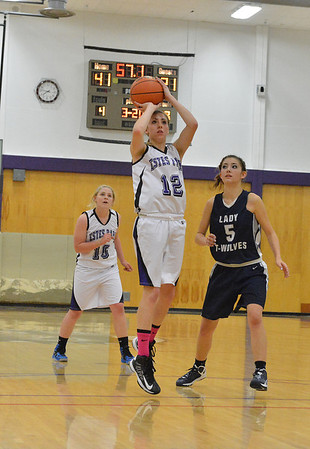 Amanda Dill shoots for two of her 23 points against The Pinnacle on Tuesday. Dill also pulled down 11 rebounds, earning player of the game honors.
