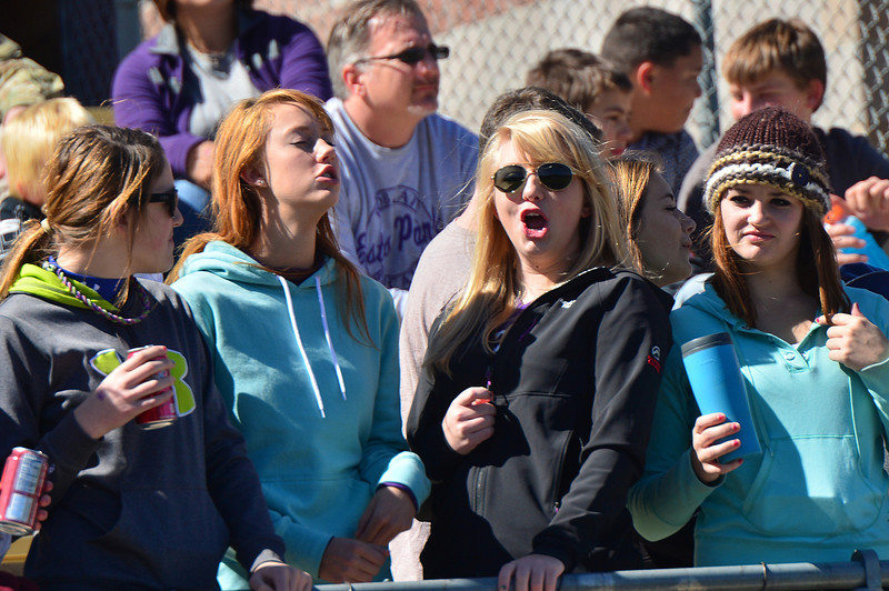 Fans cheer for the Bobcats on Saturday.