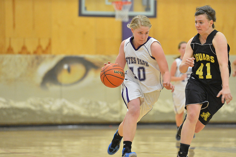 Susannah Jones drives against the Jefferson Academy Jaguars on Thursday. In spite of the Ladycats best efforts, they could not overcome the Jags, suffering their third loss in four game, stretching back to mid-December.