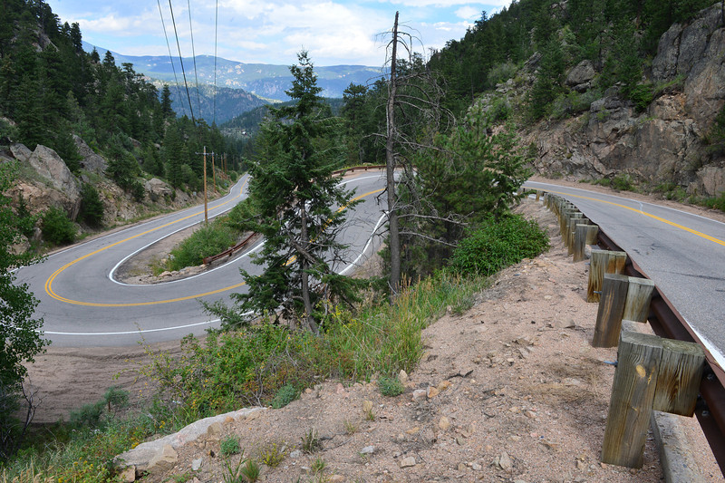 The Glen Haven Switchbacks wind their way up to Estes Park. This scene will likely be a mass of cycling fans on Saturday.