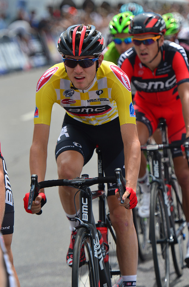 BMC rider and Fort Collins native Tejay van Garderen rades safely surrounded by his team on Sunday. Van Garderen also won the Amgen Tour of California, but was happier to win the Pro Challenge in his home state.