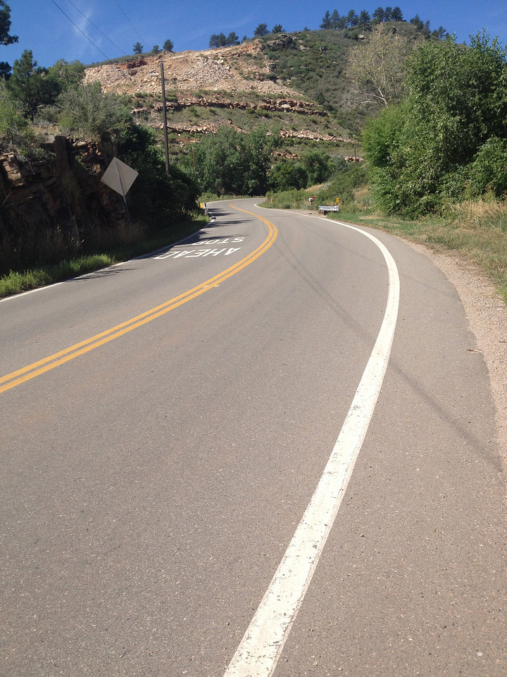 The route pitches upward west of Loveland. The Colorado Rocky Mountain Bicycle Tour touts itself as the toughest tour in the state. Much of the first day of the tour followed the Pro Challenge stage 6.