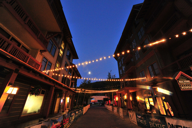 Festive decorations lead folks to music and merriment at Copper Mountain Resort on Saturday. The resort bends over backwards to make riders and fundraisers feel welcome each year.