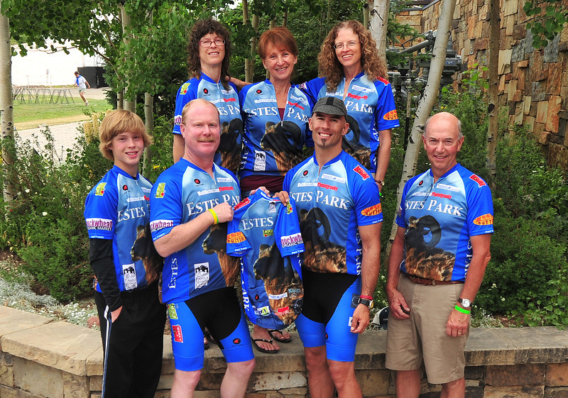 Team Estes for the Courage Classic is, from top left: Pam Duemig, Eunice Docter, Susan McNeil, bottom left, Jordan Duemig, Rick Life, Walt Hester and Jim Docter.