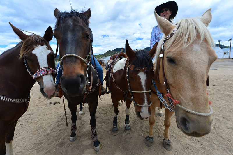Horses and riders cue up for there dash around the barrels on Saturday. The Beat the Heat series attracted riders of all ages and abilities from all over the Front Range.